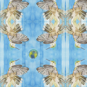 Hummingbird Mirrored (for Fat Quarter and 1 yard pieces)