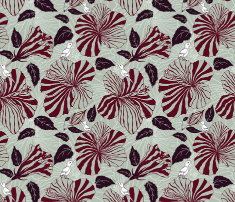 Tropical elegance fabric by artypeaches on Spoonflower - custom fabric