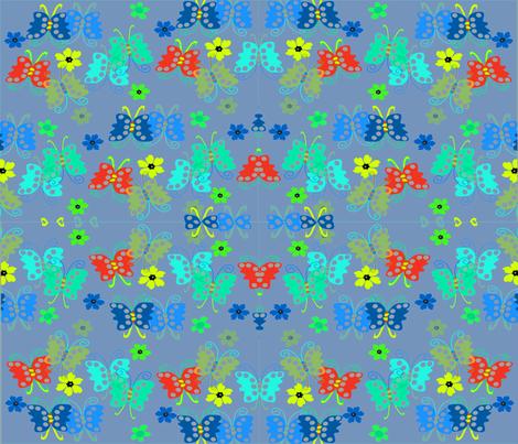 1-BUTTERFLIES EVERYWHERE fabric by soobloo on Spoonflower - custom fabric