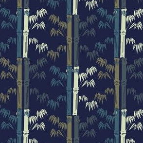 bamboo dark blue background