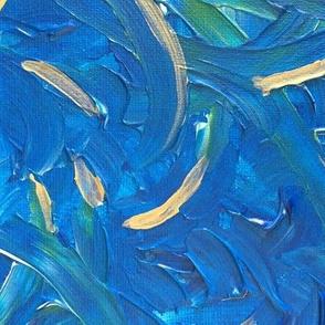 Blue Green Gold Swirls