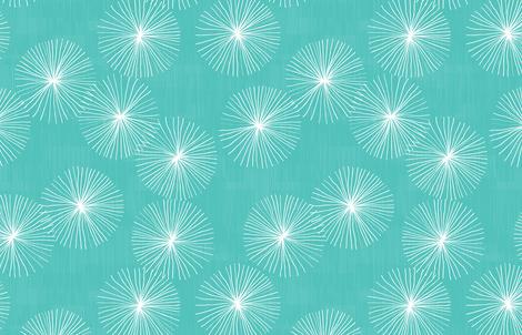 Dandelions M+M Aqua by Friztin fabric by friztin on Spoonflower - custom fabric