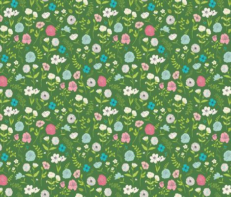 flower garden fabric by littlefoxhill on Spoonflower - custom fabric