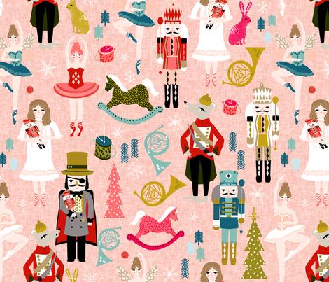 nutcracker ballet (XL) // nutcrackers xmas holiday christmas christmas xmas holiday fabric by andrea lauren fabric by andrea_lauren on Spoonflower - custom fabric