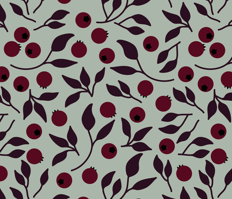 Elegant forest fruits seamless pattern fabric by pillowfighter on Spoonflower - custom fabric