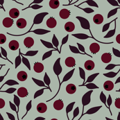 Elegant forest fruits seamless pattern
