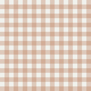 "almond check fabric - sfx1213 - 1/2"" squares - check fabric, neutral plaid, plaid fabric, buffalo plaid"