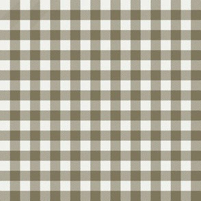"aloe check fabric - sfx0620 - 1/2"" squares - check fabric, neutral plaid, plaid fabric, buffalo plaid"