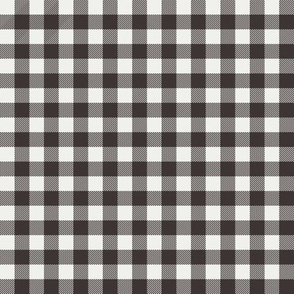 "coffee brown check fabric - sfx1111 - 1/2"" squares - check fabric, neutral plaid, plaid fabric, buffalo plaid"