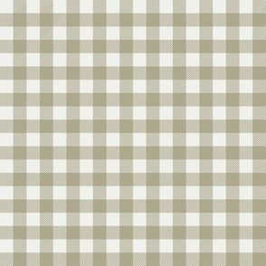 "eucalyptus green check fabric - sfx0513 - 1/2"" squares - check fabric, neutral plaid, plaid fabric, buffalo plaid"