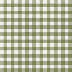 "iguana green check fabric - sfx0525 - 1/2"" squares - check fabric, neutral plaid, plaid fabric, buffalo plaid"