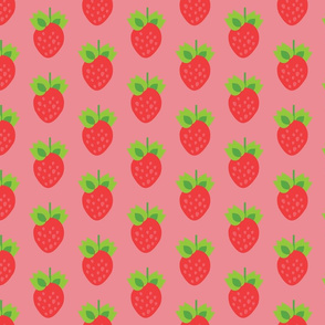 strawberry in pink