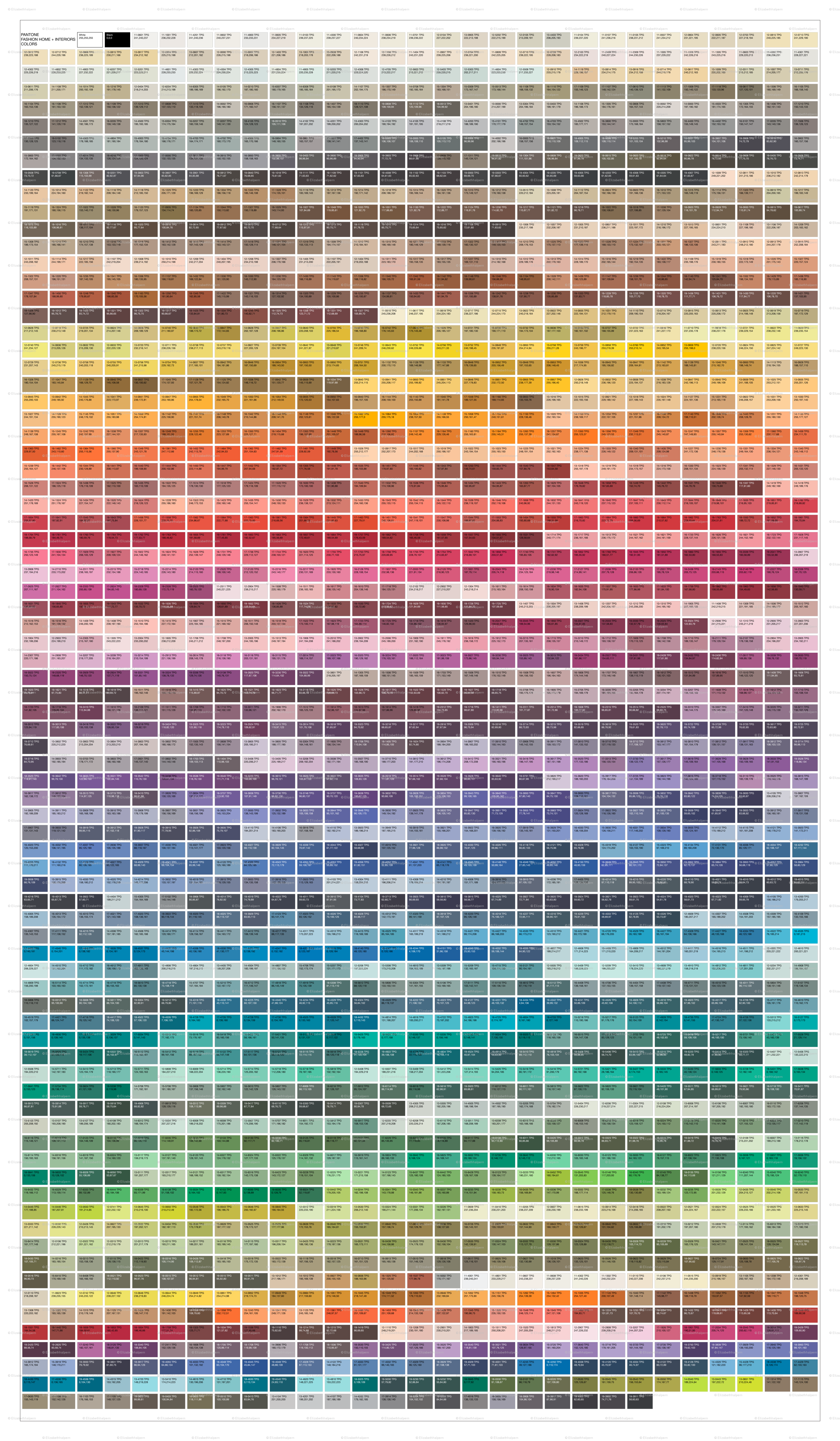 PANTONE Fashion Home + Interiors Color Guide Wallpaper   Elizabethhalpern    Spoonflower