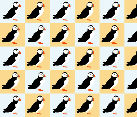 Puffins fabric by leigha_marie on Spoonflower - custom fabric