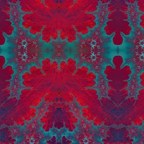 red on lichen