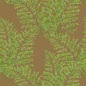 Feathery Ferns - Brown