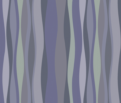 periwinkle lavender wave fabric by wren_leyland on Spoonflower - custom fabric