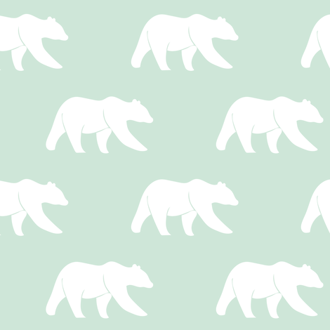 bears on mint fabric by littlearrowdesign on Spoonflower - custom fabric