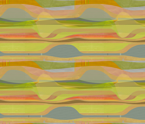 midc-plateau-clay-red fabric by wren_leyland on Spoonflower - custom fabric