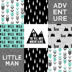 Little Man / Adventure - Wild - black and teal