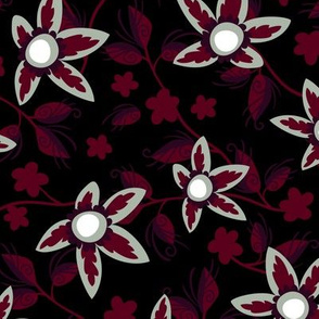 Elegant Holiday Wildflowers on Black