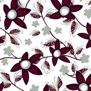 Elegant Holiday Wildflowers on White