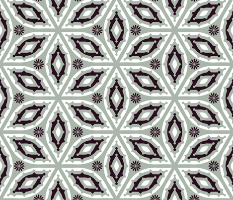 Muted Geometrics-Dark Burgundy and Grey fabric by ravenous on Spoonflower - custom fabric