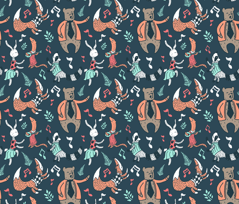 Animal House Party fabric by denisecolgan on Spoonflower - custom fabric