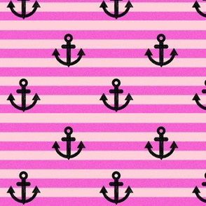 Anchors-stripes-pink
