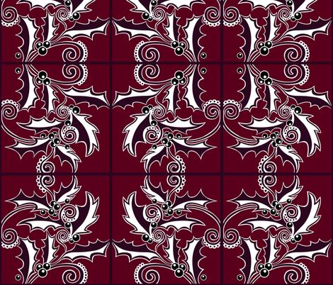 holly-01 fabric by austin_designs on Spoonflower - custom fabric