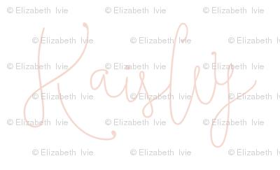 Kaisley // blush script