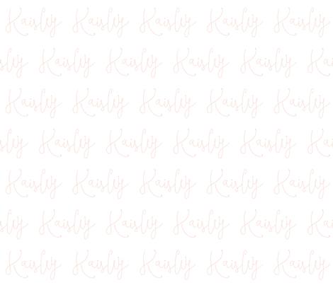 Kaisley // blush script fabric by ivieclothco on Spoonflower - custom fabric