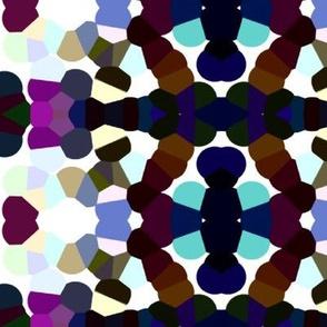 Kaleidoscope Print Navy & Turquoise