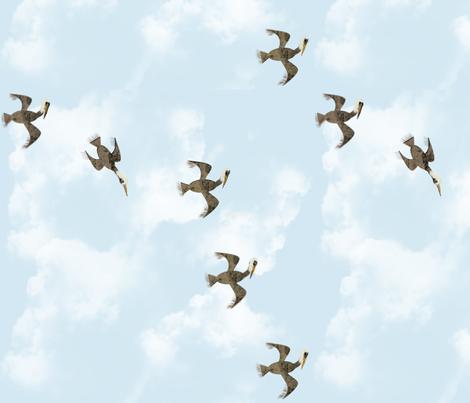 Pelicans + fabric by gargoylesentry on Spoonflower - custom fabric
