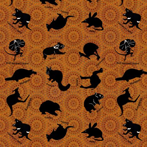 Animals Australia fabric by karwilbedesigns on Spoonflower - custom fabric