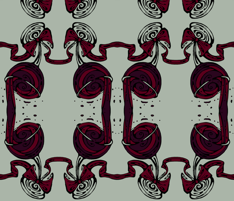 Wineglass with Ribbon fabric by art_rat on Spoonflower - custom fabric