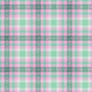 JP12 - Minty Pink and Green Jagged Plaid