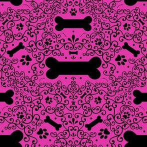 Doggie Damask (Pink)