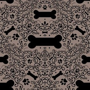 Doggie Damask (Brown)