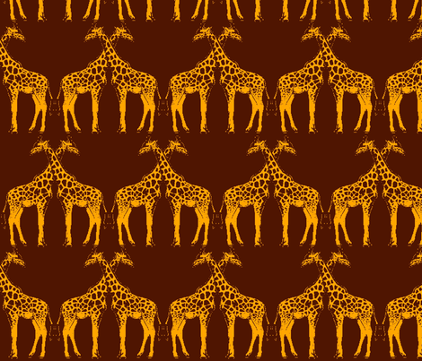 Giraffe Symmetry fabric by anneostroff on Spoonflower - custom fabric