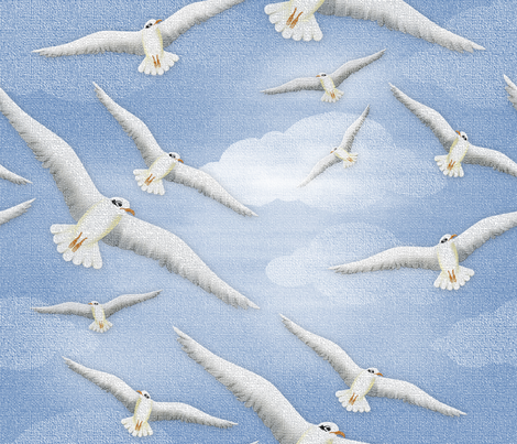 A Flock of Seagulls fabric by j9design on Spoonflower - custom fabric