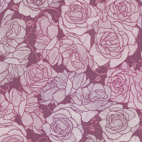 Rose Garden - Mauves