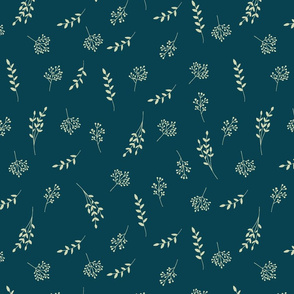 Flora on dark blue