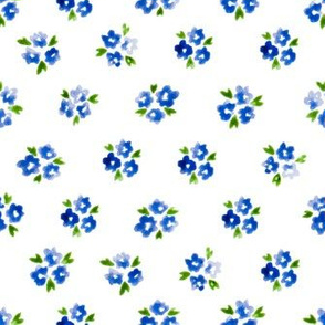 Calico watercolor blue forget me not  order