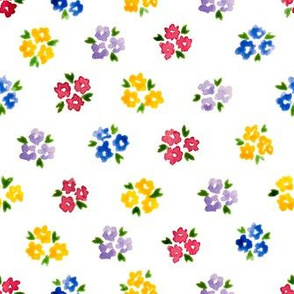 Calico watercolor colorful forget me not  order
