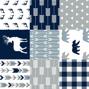 Woodland Wholecloth (moose, deer, and bear)  - plaid