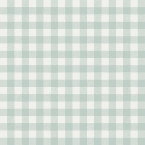 "milky green check fabric - sfx6205 - 1/2"" squares - check fabric, neutral plaid, plaid fabric, buffalo plaid"