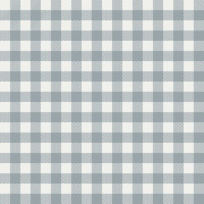 "quarry blue check fabric - sfx4305 - 1/2"" squares - check fabric, neutral plaid, plaid fabric, buffalo plaid"