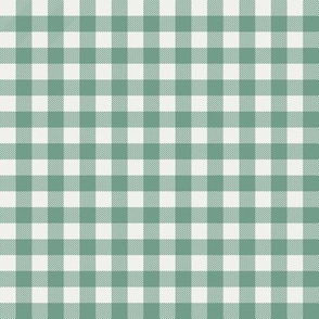 "rainforest green fabric - sfx5815 - 1/2"" squares - check fabric, neutral plaid, plaid fabric, buffalo plaid"
