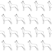 great dane fabric, dog fabric, dogs fabric, pet fabric, - black and white